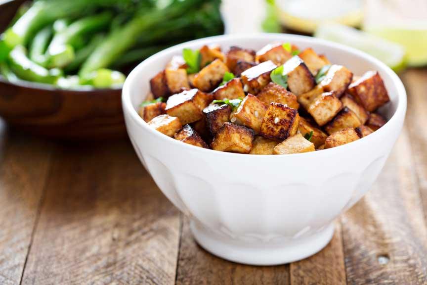 Marinated Tofu Cubes -