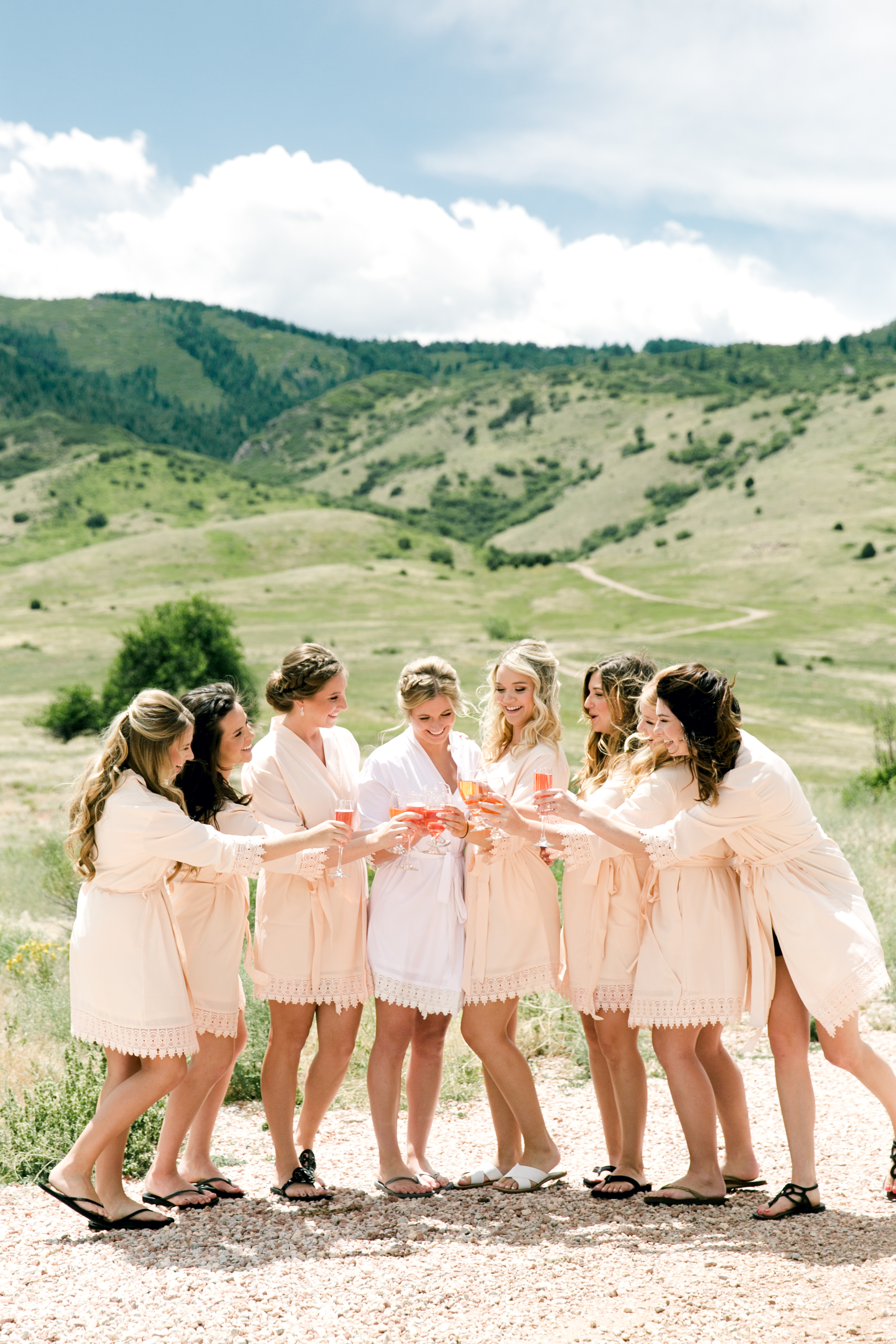 - Casee picked out the cutest robes that her bridesmaids wore while getting their hair and makeup done on the day of her wedding!