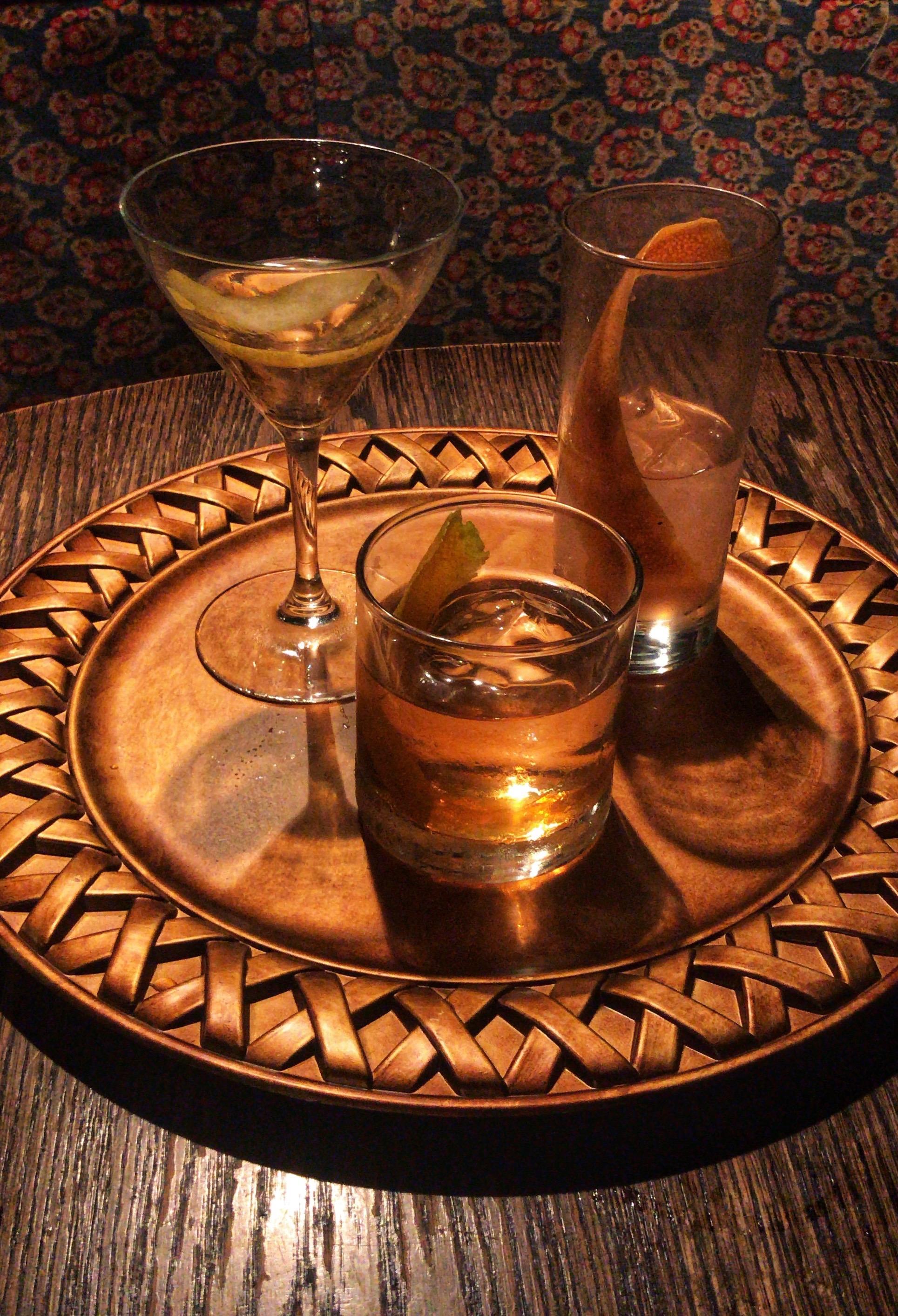 - Rye Whiskey (2 oz)4 Dashes of BittersHoney