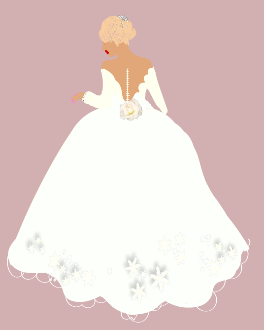 Style Tip: - Ball gowns do a great job of balancing fuller bust lines!