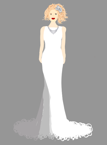 Style Tip: - This type of dress is great for petite brides who don't want to be overwhelmed and overshadowed by fabric!