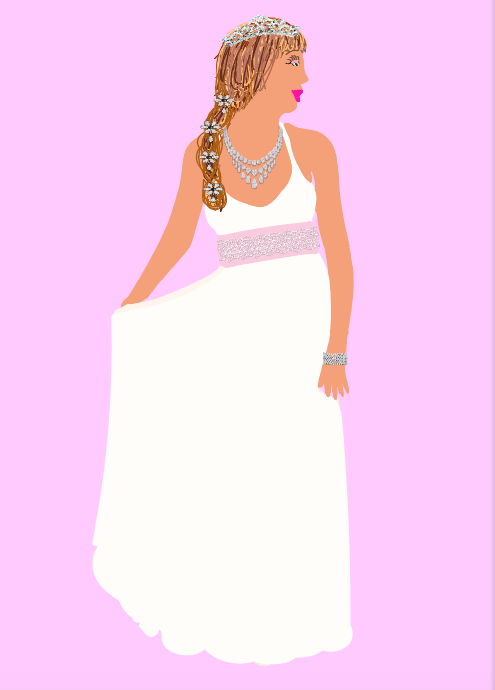 Style Tip:This style of dress is perfect for beach or garden weddings!