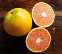 Cara Cara Navel - Cara Cara Navel Oranges have a slightly pink skin that is easy to peel, and flesh ranging from rich orange to dark pink. The interior is sweet with relatively low acid content and few to no seeds. We also grow a variegated Cara Cara with the same characteristics.