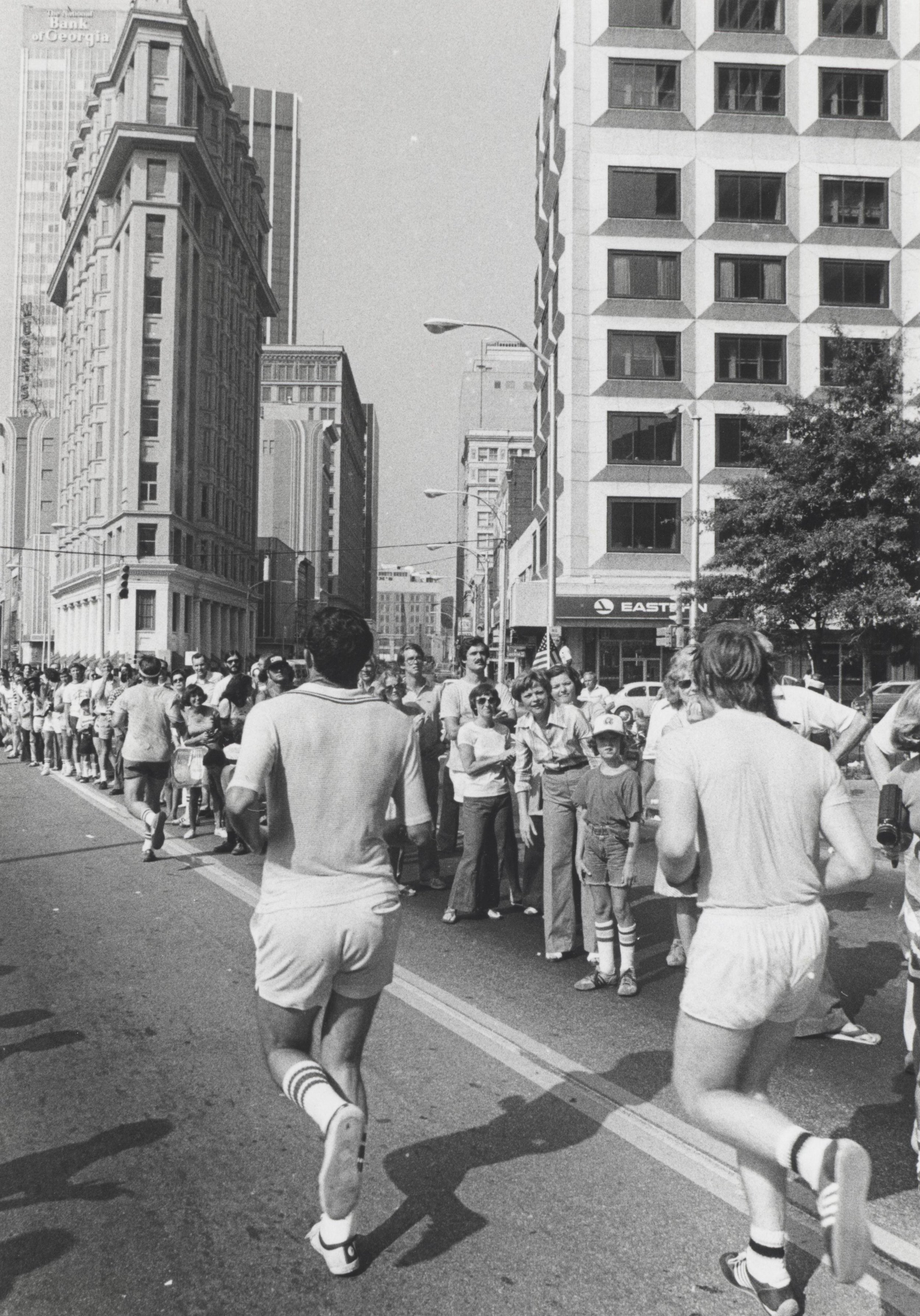 Finishing the Peachtree in the early 1970s.