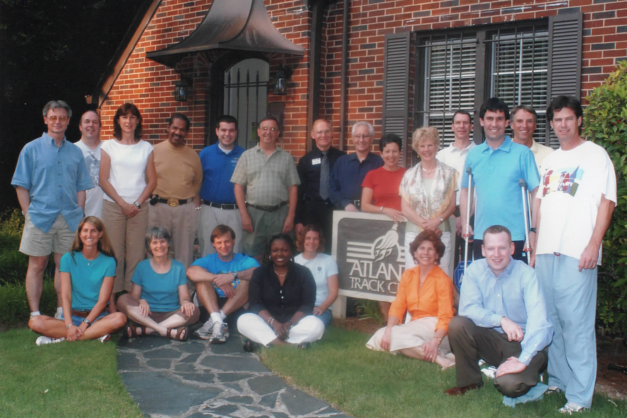 Atlanta Track Club's staff and the Peachtree committee in 2006