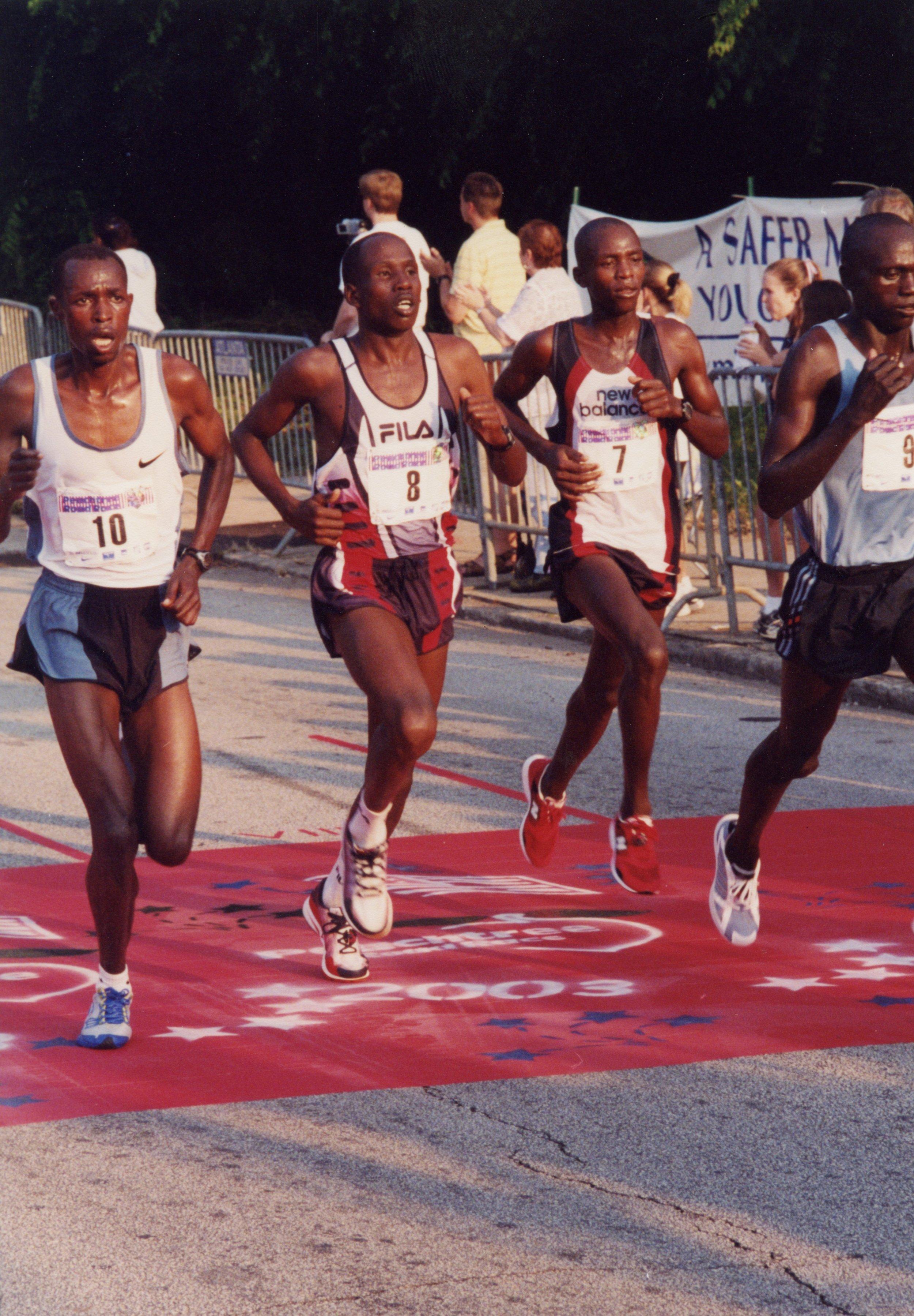 Gilbert Koech, Martin Lel, Evans Rutto, Felix Limo 2003.jpg