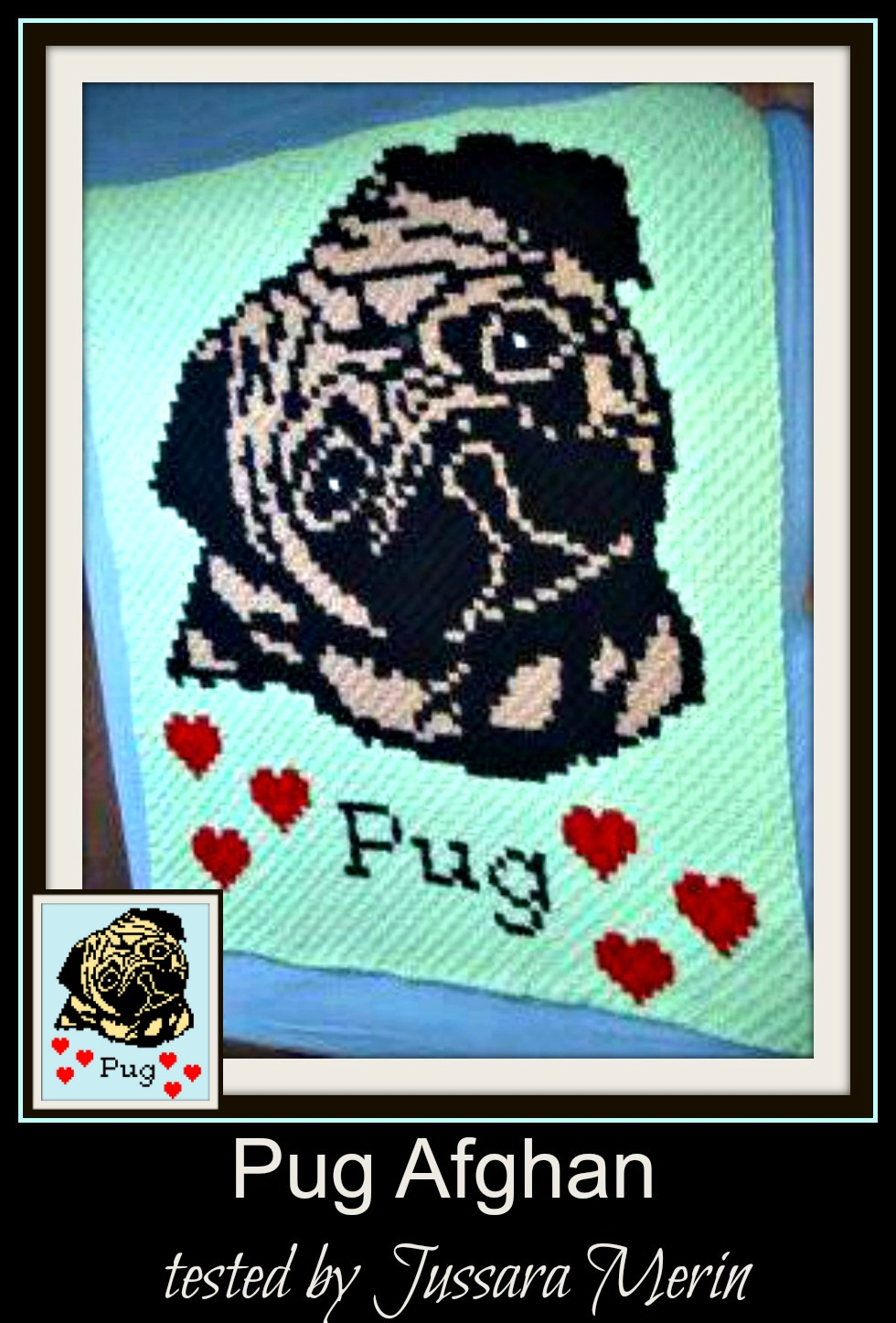 PUG color graph afghan pattern Crochet Patterns