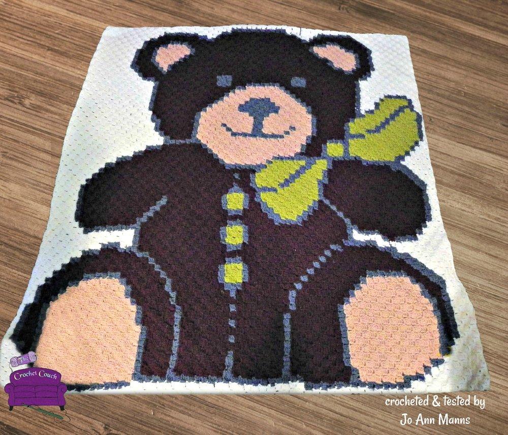 Sleep Tight Teddy Bear Baby Blanket Crochet Pattern | Crochet ... | 856x1000