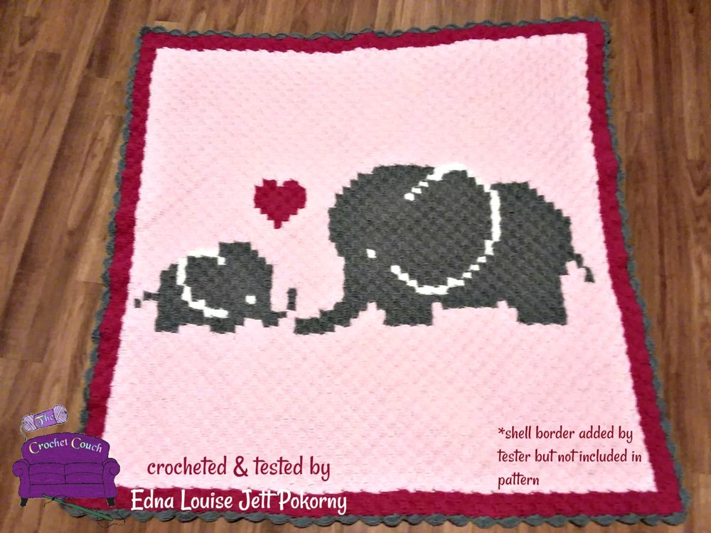 Elephant Edging Border [Free Crochet Pattern and Video Tutorial] 2 ... | 750x1000