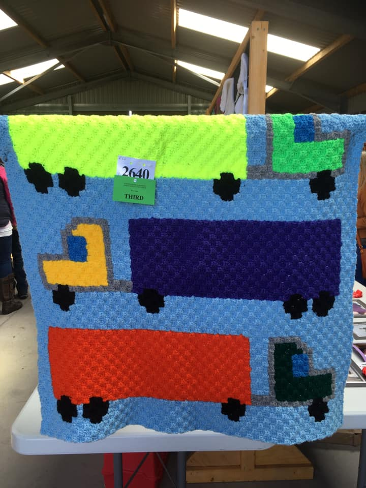 Semi Truck Kids Afghan - Ann Jamieson won 3rd place in her local Agriculture Show!