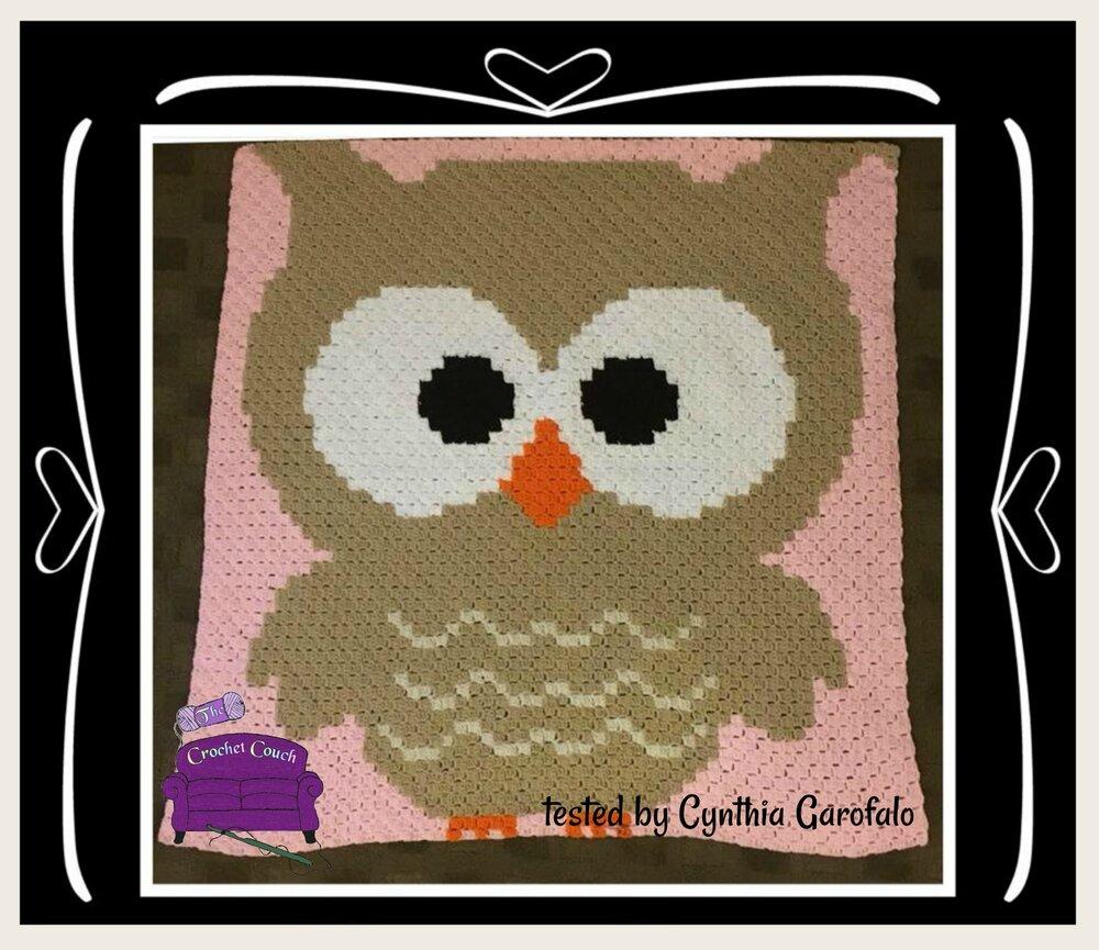 Teddy Bear, Baby Afghan, C2C Crochet Pattern, Brown | 865x1000