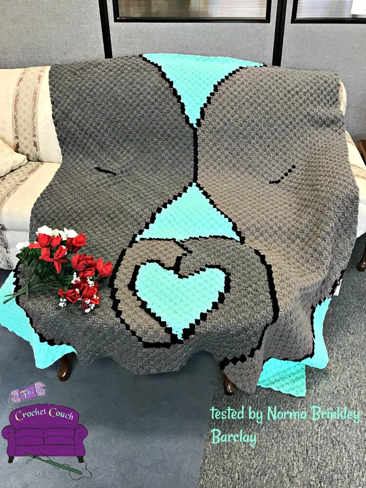 Elephant Mommy and Baby Afghan, C2C Crochet Pattern | 1000x750