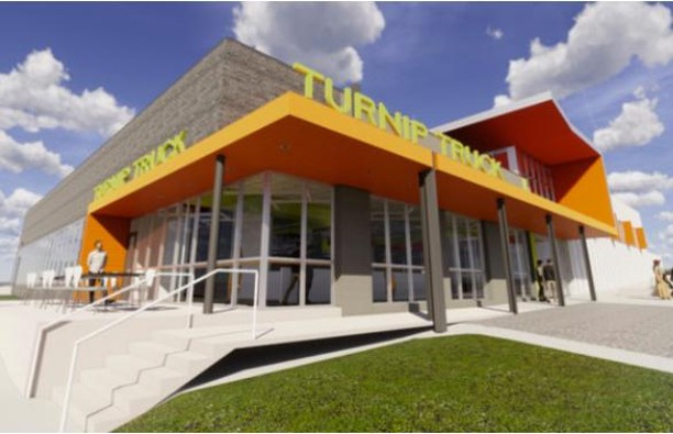 A new permit has been issued for the build-out of The Turnip Truck in West Nashville. It will be located at 5001 Charlottle Ave. in Sylvan Park with plans to open this fall. Manuel Zeitlin will oversee the adaptive reuse of the building. #CRE #Nashville