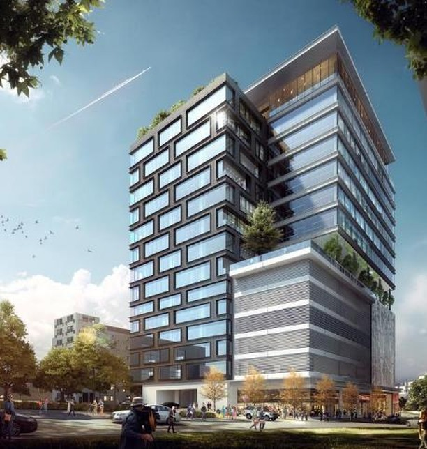 A new 15 story office building has been proposed for 827 19th Ave. South in Nashville. Named The Moore Building, it will contain 214,000 SF of office space, a 7th floor terrace with potential for a restaurant and motor court specifically for popular Rideshare companies to drop off tenants and guests. #CRE #Nashville