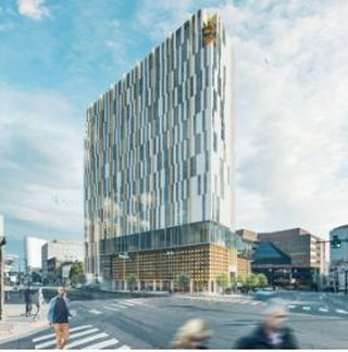 A new mixed-use building has been proposed at 127 Rosa Parks Blvd. in Nashville. The tower would stand 24 stories and offer hotel, retail and residential space. #CRE #Nashville