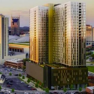 805 Lea Ave. has landed a permit that will allow construction to start on the project's  foundation. The building will be a 29-story mixed-use tower with Turner Construction serving as general contractor. #CRE #nashville