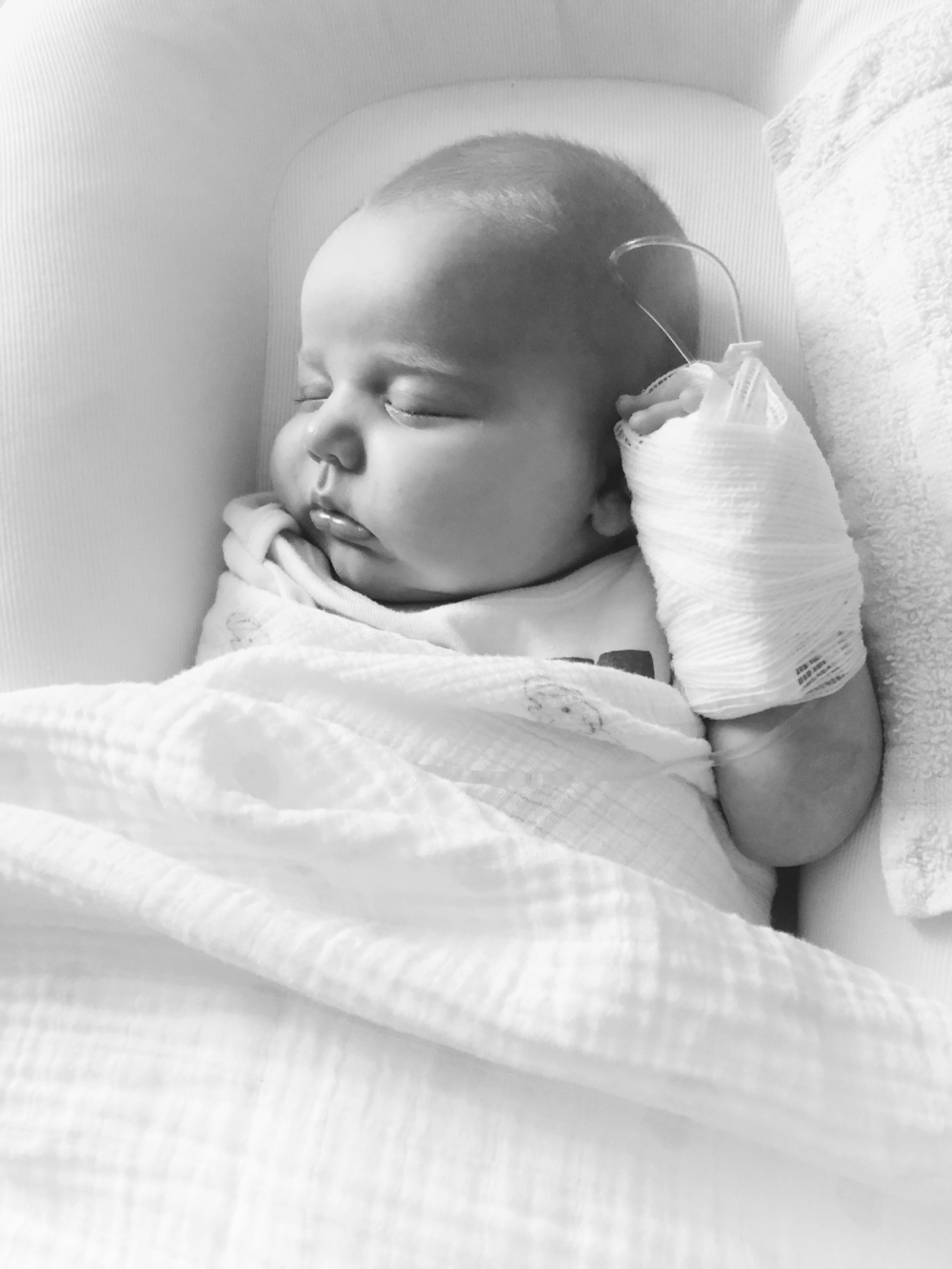 Maeve's first hospitalization at 7 weeks old.