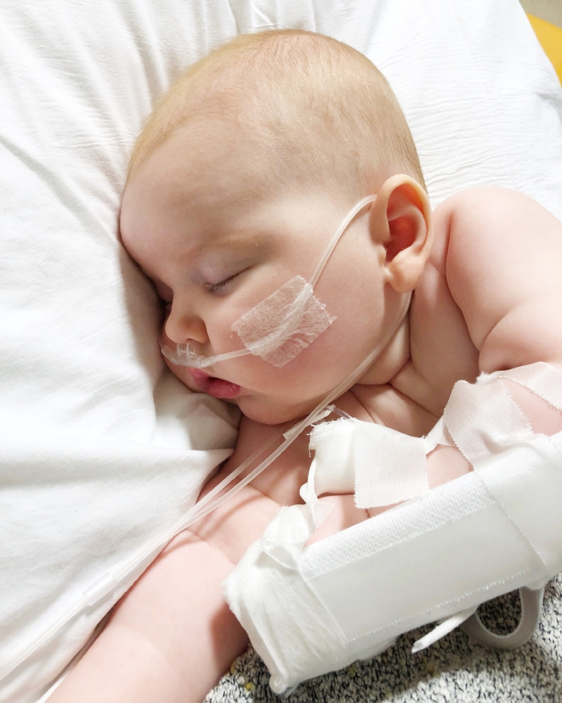 Maeve's third hospitalization at four months old