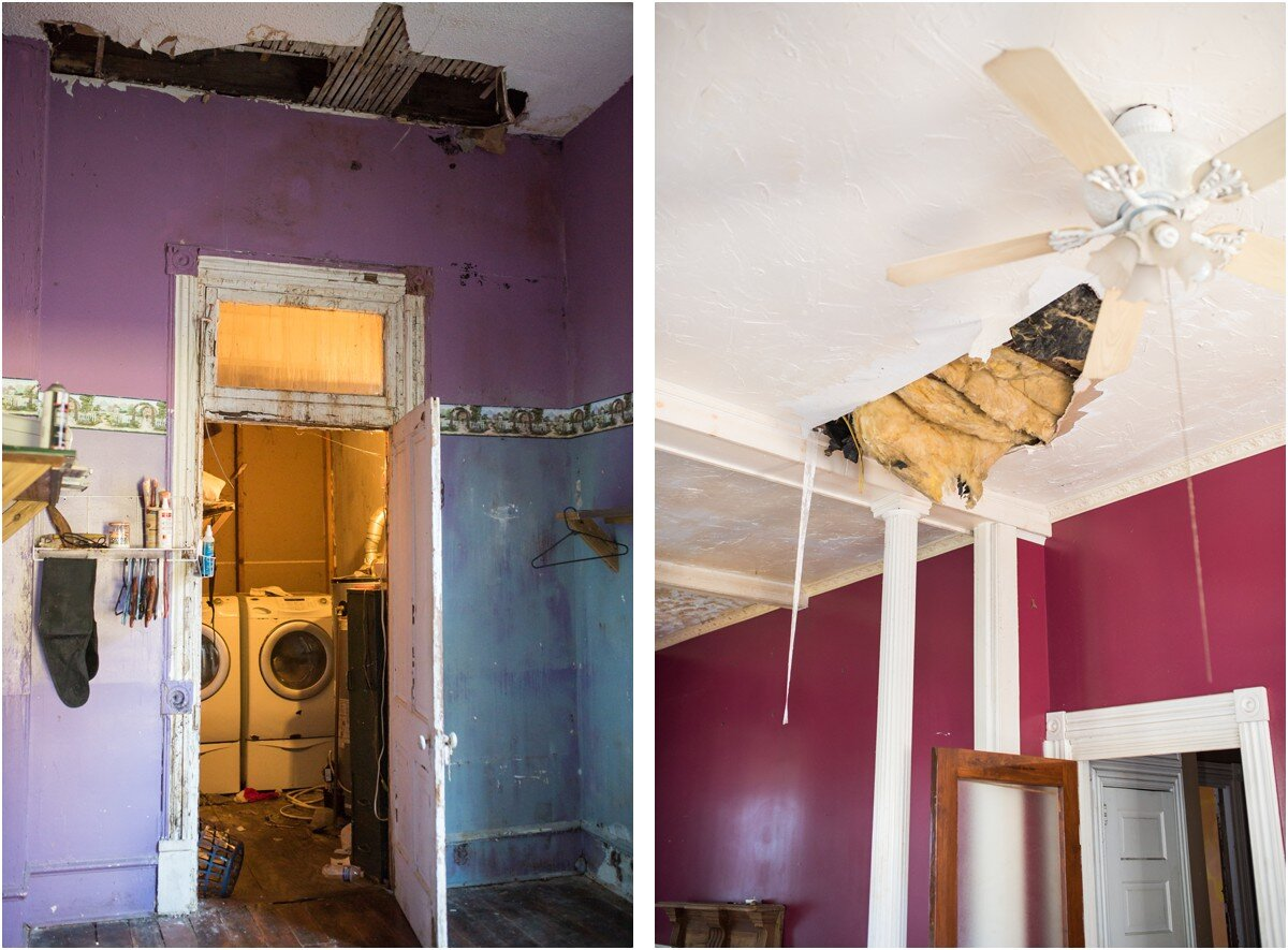 Just two examples of the condition the home is in now… yikes!