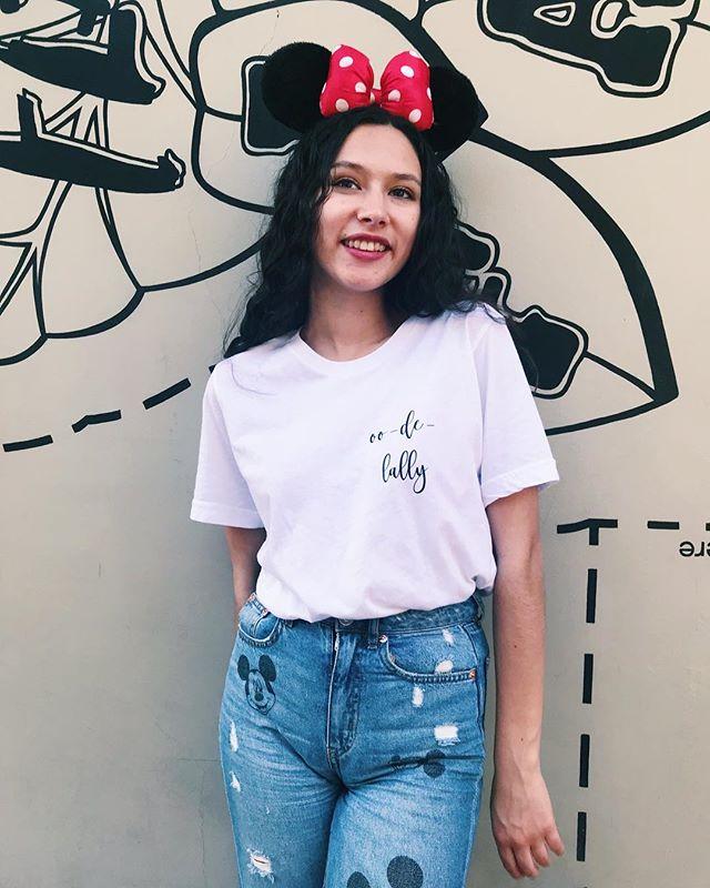 Oo-de-lally, oo-de-lally, golly, what a day! . Love this picture of Selah of @justaworldofmyown! This was a custom shirt request! 💕💕💕 . #smallbusiness #shopsmall #supportsmallbusiness #smallbusinessowner #smallbusinesslove #makersgonnamake #merrymakershop #customorder #custom #customshirts #ootd #etsy #etsyshop #etsyseller #etsyfavorites #disneyblog #fashionblog #blogger #blog #home #disney #disneylandoutfit #disneyworld