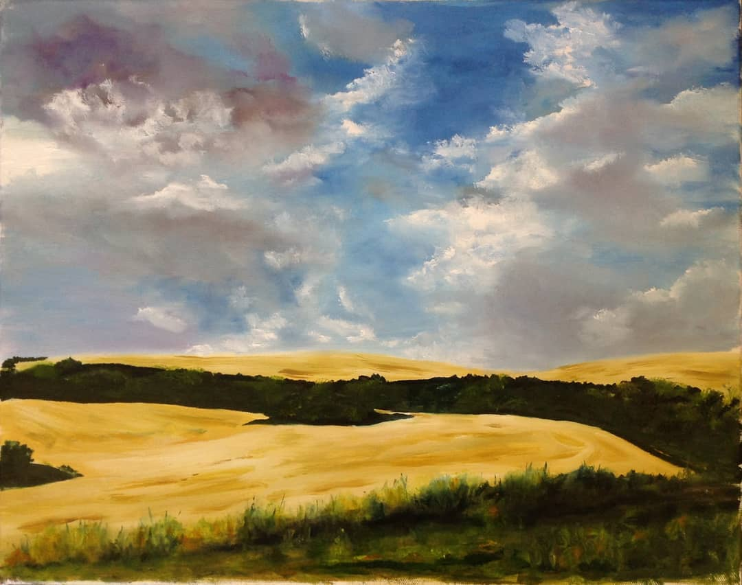 "The Palouse just outside of Pullman, WA.  16"" X 20"""