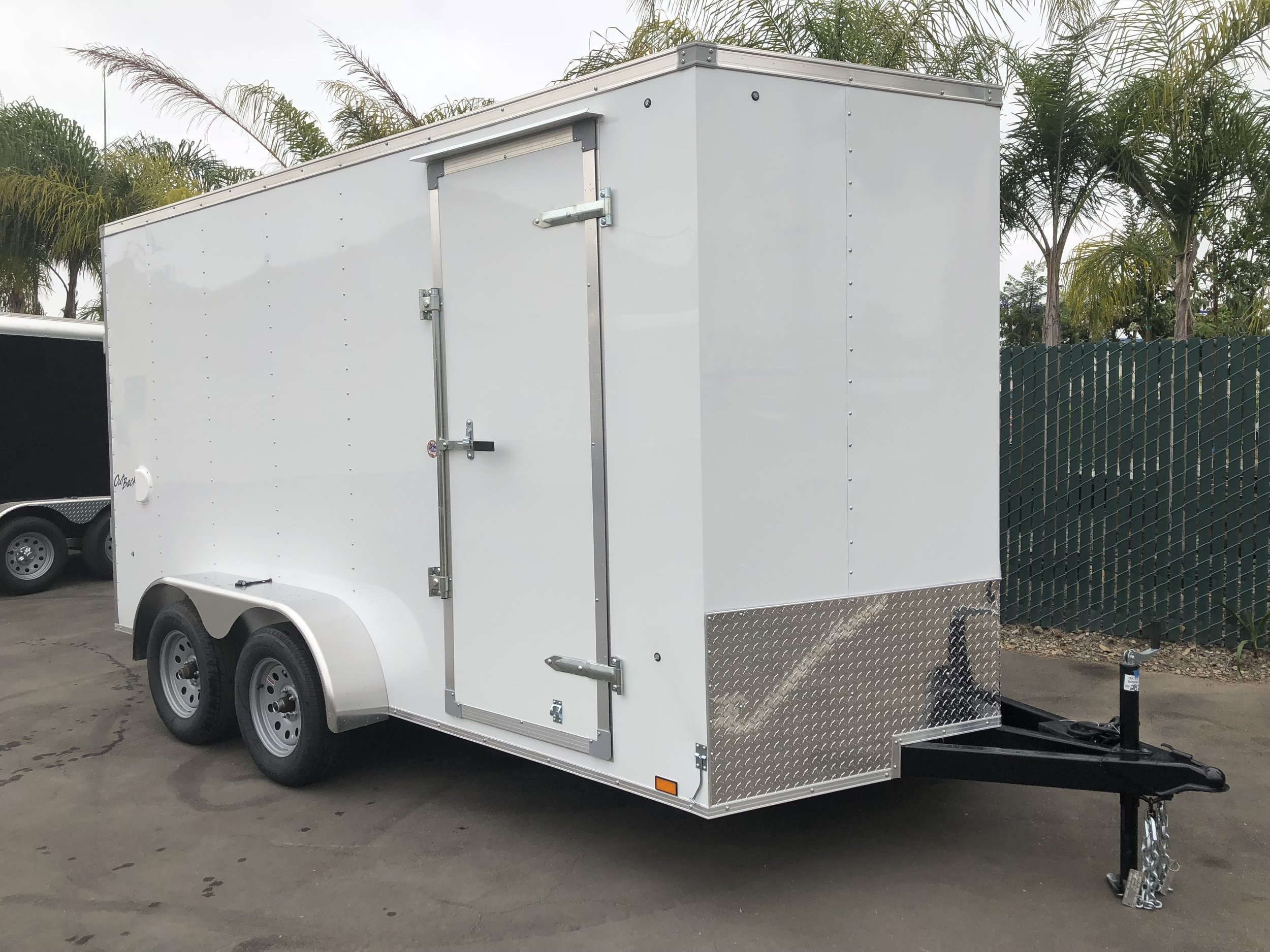 7x14 Tandem V-Front - Side Door / Ramp Door