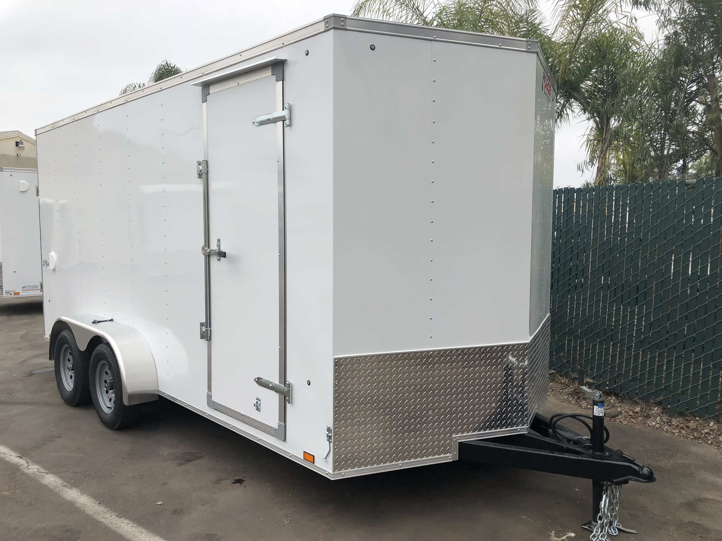 7x16 Tandem V-Front - Side Door / Ramp Door