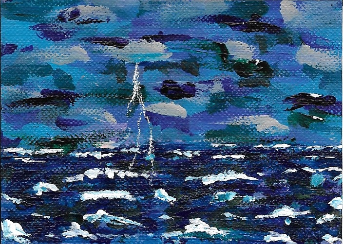Thunderstorm, acrylic on canvas