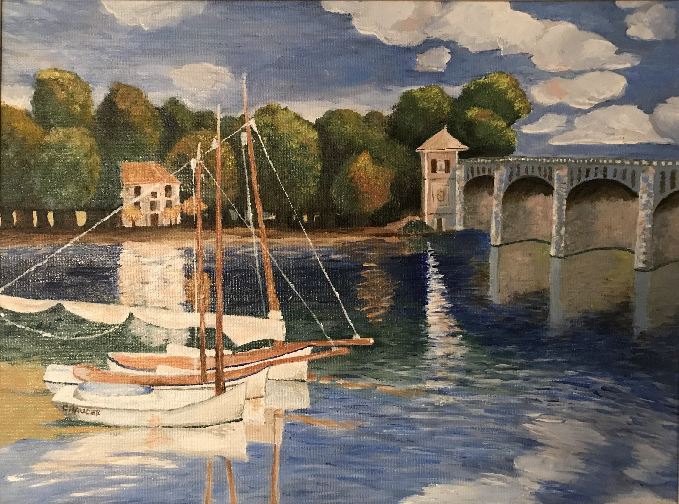 Monet replica, acrylic on canvas