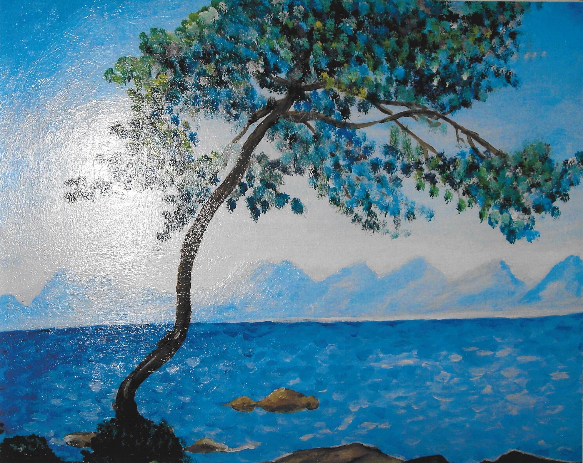 Monet replica, acrylic on a wall