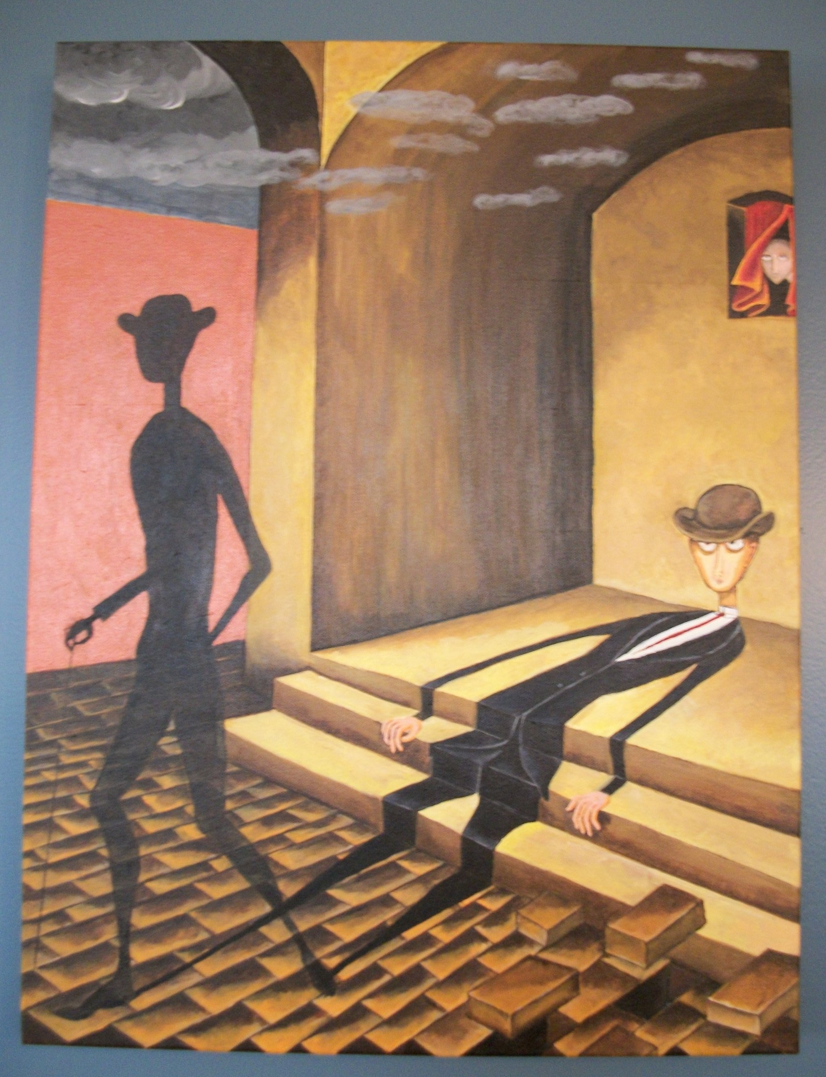 Thoracic Surgery chapter - Remedios Varo replica, acrylic on canvas