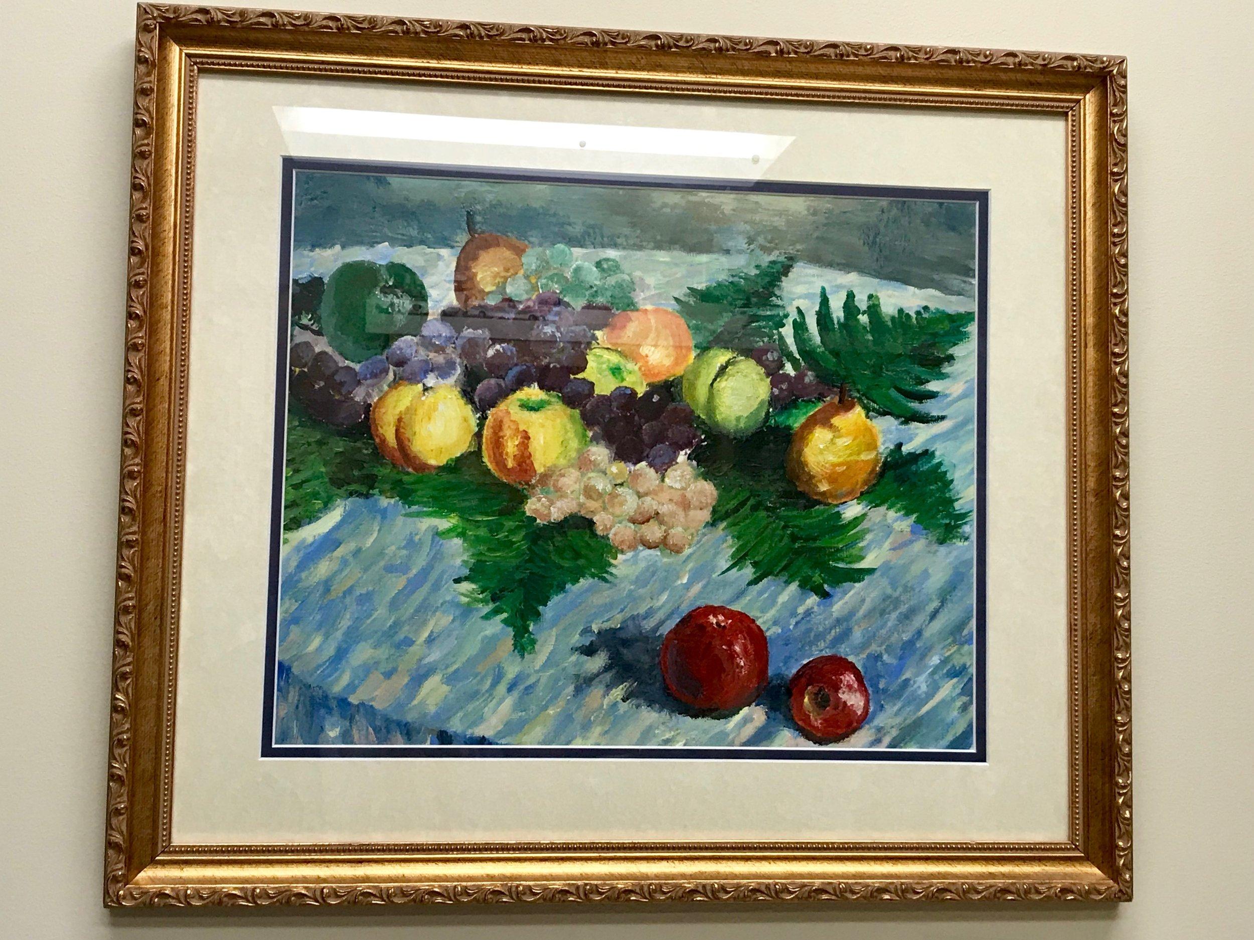 Monet replica, oil on canvas