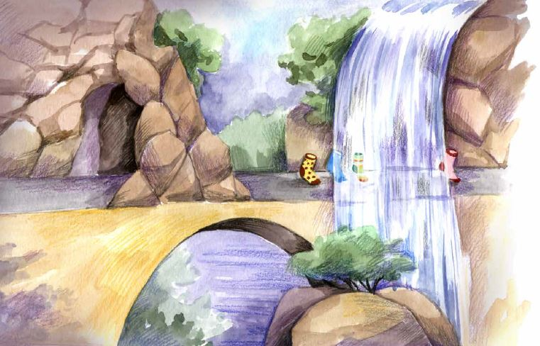Socktown art waterfall pg 10 ragged right.JPG