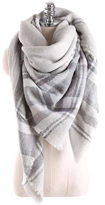 Ancia Women Tartan Blanket Scarf @ Amazon