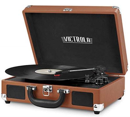 Victrola Vintage 3-Speed Bluetooth Suitcase Turntable with Speakers @ Amazon