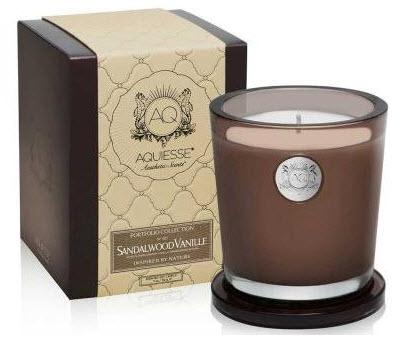 Aquiesse Sandalwood Vanille Soy Candle @ Amazon