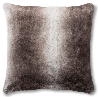 Fieldcrest Neutral Faux Fur Euro Pillow @ Target     I actually own this pillow (you can see it in all the photos of my couch) and it's unbelievable that a pillow this inexpensive can be so soft. I cuddle with this thing on my couch pretty much every night.