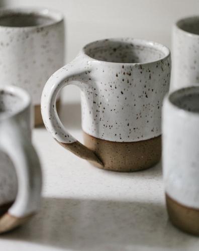 Joe Sink Pottery Coffee Mug - White Speckled @ Etsy