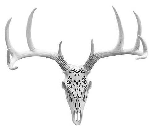 Carved Decorative Deer Skull by Wall Charmers™ @ Etsy