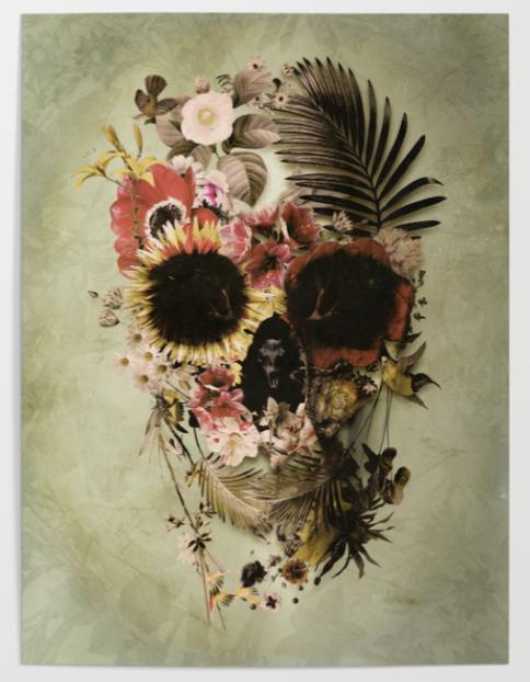 Garden Skull Light Poster by Ali Gulec @ Society6