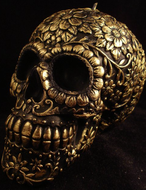 Handmade Mexican Skull Candle by Meltdawn Candles @ Etsy