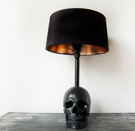 The Edison Skull Lamp by The Blackened Teeth @ Etsy