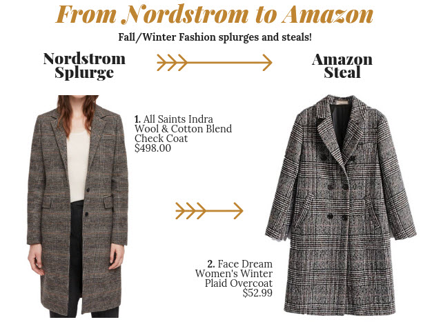 This style of coat is everywhere right now. It's definitely a Fall/Winter 2018 trend already. If you don't feel like you're in a place to spend $500 on an  All Saints coat , why not go for the  Amazon version  for a fraction of the price? You can always easily return it if the quality isn't great! And frankly, a lot of the Amazon purchases I've made over the years have been surprisingly great quality. It's always worth a try!