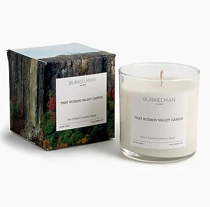 Burkelman hudson valley candle woodsy scent