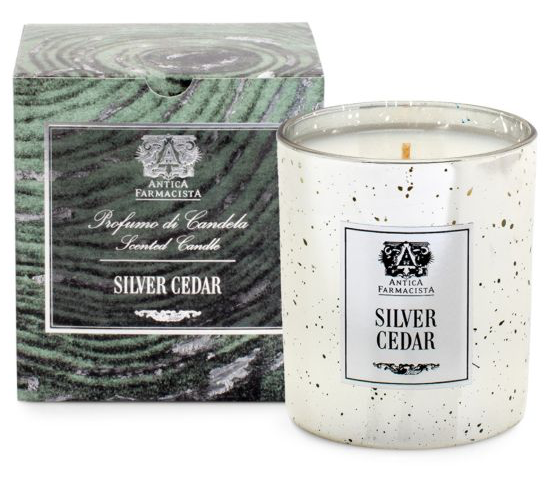 antica farmacista silver cedar candle winter fragrance