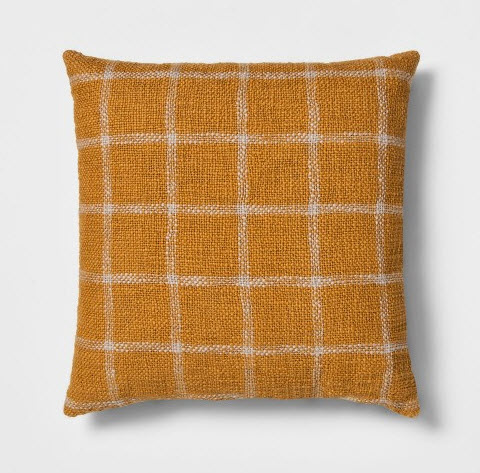 Woven Grid Square Throw Pillow Gold.jpg