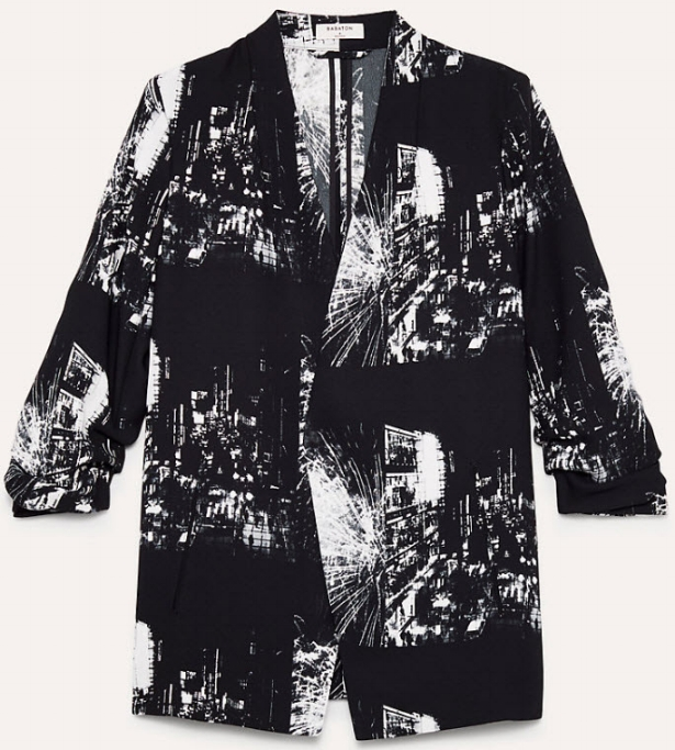 Macauley Blazer Three-Quarter Rolled Sleeve, Printed Blazer.jpg