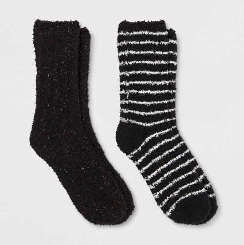Women's Sparkle Cozy Crew 2pk Casual Socks