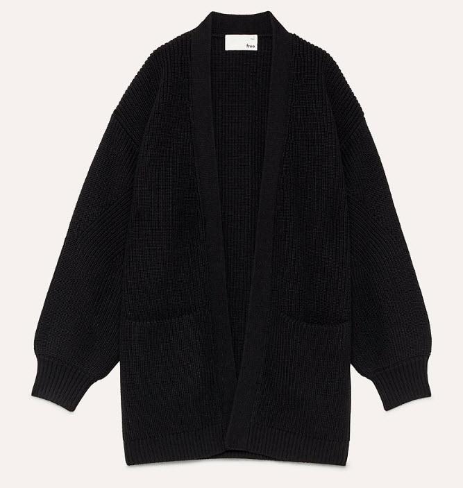 Aritzia Black Chunky Sweater