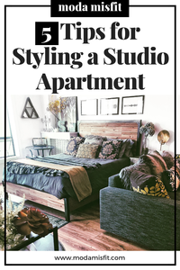 Tips for styling your studio apartment decor.